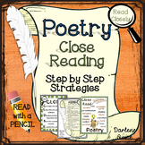 Poetry Close Reading Strategies: Step by Step for Middle School English