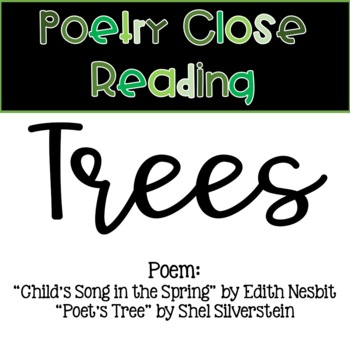 Poetry Close Reading - Trees