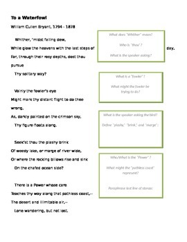 "Poetry - Close Reading of ""To a Waterfowl"""