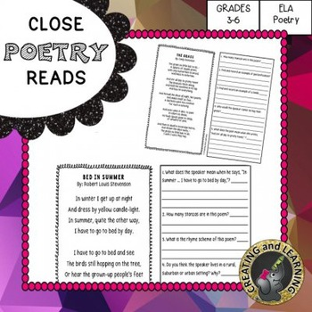 Poetry Close Reads