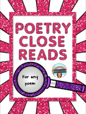 Poetry Close Reading Organizers for Any Poem