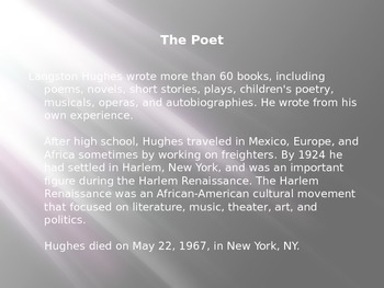 "Poetry: Close read and analysis of ""Harlem (Dream Deferred)"" by Langston Hughes."