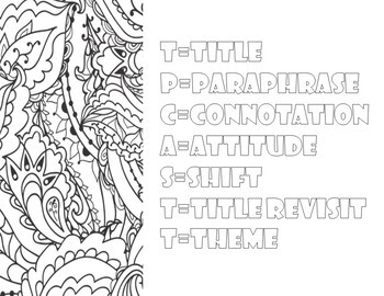 Poetry Coloring Pages: Mini Posters