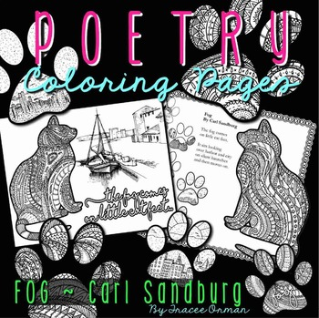Poetry Coloring Pages and Bookmarks: Fog by Carl Sandburg