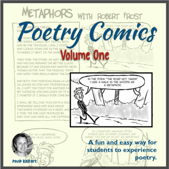Poetry Comics Vol.1: Metaphor, Tone, and Personification: Activities Included