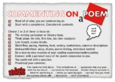 Poetry Comments and Feedback Poster Card