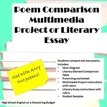 Poetry Comparison Essay or Multimedia Project (For Any Poem)