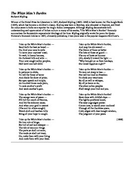 """Poetry Comparison on the Theme of """"Burdens"""" (2 poems)"""