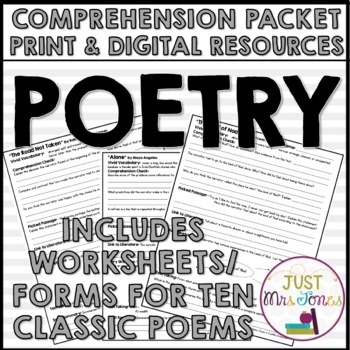 Poetry Comprehension Packet
