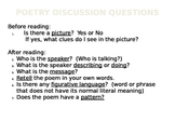 Poetry Comprehension Questions & Vocabulary