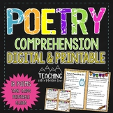Poetry Comprehension | Distance Learning | Google Classroom