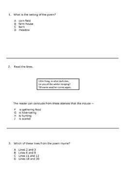 Poetry Comprehension 2- Test Prep