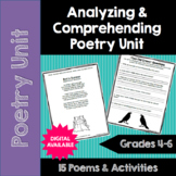 Poetry Unit: Analyzing and Comprehending Poems- DIGITAL TOO- 4th, 5th, 6th