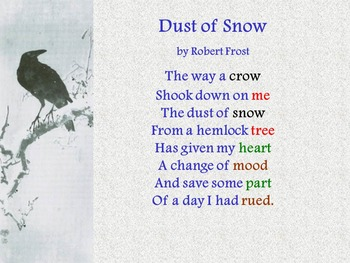 Poetry Comprehension and Analysis: Dust of Snow by Robert Frost