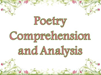 Poetry Comprehension and Analysis Mini-unit