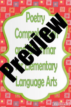 Poetry, Comprehension and Grammar for Elementary Language Arts 2