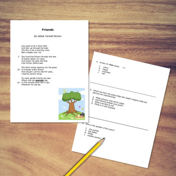 Poetry Comprehension and Guided Poetry Lesson Bundle
