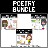 Poetry Comprehension Test Prep and Guided Poetry Lesson Bundle