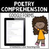 Poetry Comprehension for use with Google Forms™ for Distan
