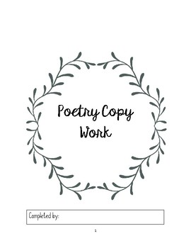 Poetry Copy Work Pages in Print -5 Poems
