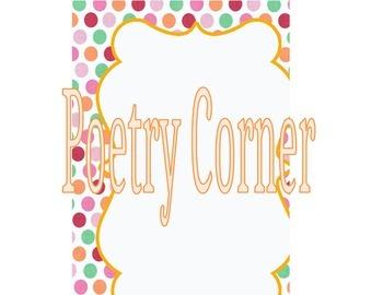 Poetry Corner Sign