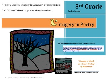 "Poetry Creates Imagery Lesson, Rubric, & ""STAAR"" like Comprehension Questions"