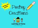 Poetry Creations PowerPoint  Distance Learning
