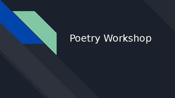 Poetry - Creative Exercise Workshop