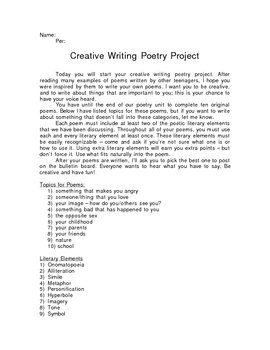Poetry Creative Writing Project