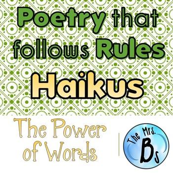Poetry that Follows Rules: Youkus – Original HAIKUS