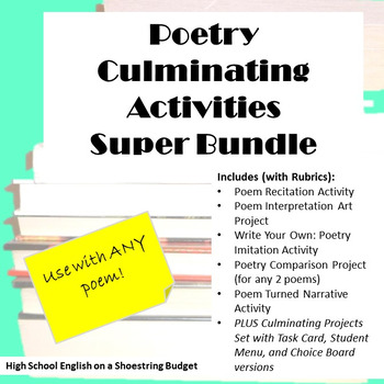 Poetry Culminating Activities Super Bundle (For Any Poem) -PDF