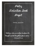 Poetry Dedication Book Project