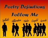 Poetry Definitions Follow Me (poetry terminology)