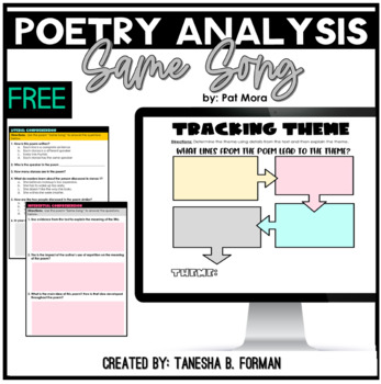 Poetry- Determine how a speaker reflects on a topic FREEBIE