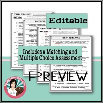 Poetry Devices Figurative Language Fun, Creative Activities Middle & High School