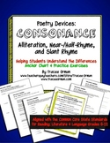 Poetry Devices: Consonance (Alliteration, Near/Half & Slant Rhymes)