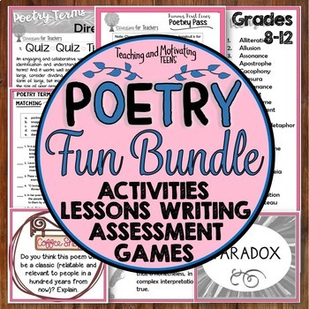 Poetry Devices Fun and Collaboration: Middle & High Games, Lessons +