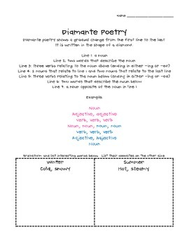 Poetry - Diamante