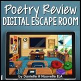 Poetry Digital Escape Room Review Activity