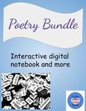 Middle School Poetry Unit w/ Digital Interactive Poetry Notebook