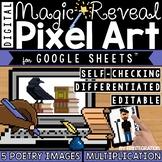 Poetry Digital Pixel Art Magic Reveal MULTIPLICATION