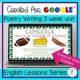 Poetry Digital Resource 3 Week Writing Unit Google Slides