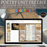 Poetry Digital Unit FREEBIE: Metaphors and Similes through