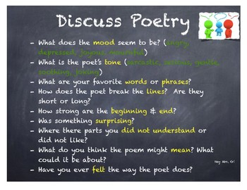 Poetry Discussion for Teachers