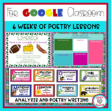 Poetry Unit Distance Learning Google Classroom 6 Week Unit