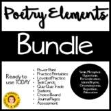Poetry Elements BUNDLE -- Figurative Language and Sound Elements
