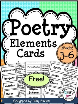 Poetry Elements Cards- Free!