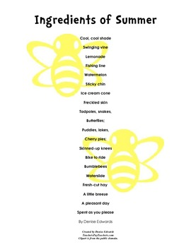 Teaching Poetry Printables 2 Great for National Poetry Month
