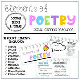 Poetry Elements Digital Learning Pack