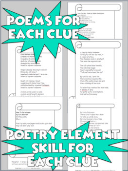 Poetry Elements Escape Room